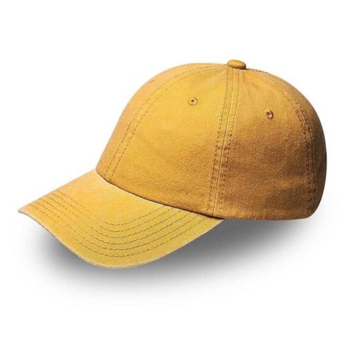 washed pigment cotton twill cap
