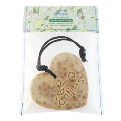 Heart soap on a rope
