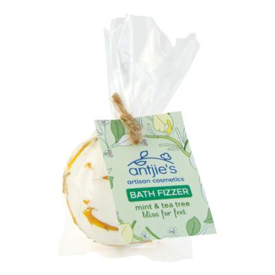 Antjie's mint and tea tree foot bath fizzer