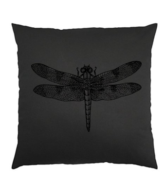 Black Dragonfly Scatter Cushion