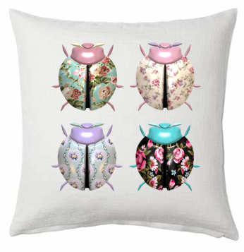 Bugs Printed Scatter Cushion